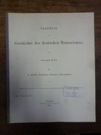 Neff, Analekten zur Geschichte des deutschen Humanismus,