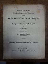 Classen, Johannes, Teil 1: Beobachtungen über den homerischen Sprachgebrauch, Dr