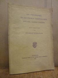 Windelband, Die Philosophie im deutschen Geistesleben des XIX. Jahrhunderts – fü