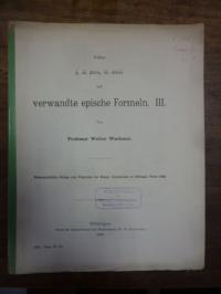 Waehmer, Über e, hos phato, hos eipon und verwandte epische Formeln, Teil III,