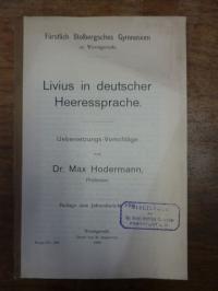 Livius/Hodermann, Livius in deutscher Heeressprache,