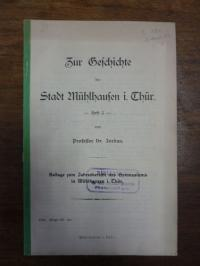 Jordan, Zur Geschichte der Stadt Mühlhausen in Thüringen, Heft 3,
