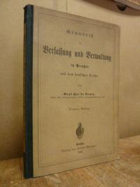 Hue de Grais, Grundriss der Verfassung und Verwaltung in Preussen und dem deutsc