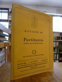 Katalog 69: Partituren (Studien- und Dirigier-Partuturen),