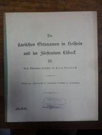 Bronisch, Die slawischen Ortsnamen in Holstein und im Fürstentum Lübeck, Teil II