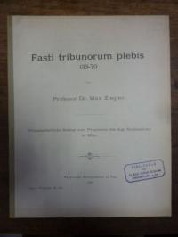 Ziegler, Fasti tribonorum plebis 133 – 70,