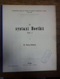 Bednarz, De syntaxi Boethii, Part I,