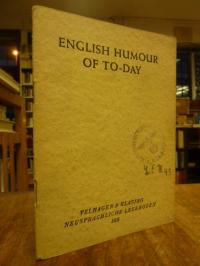 Quadt, English Humour of To-Day – A. Bennett, John Henry, Jerome K. Jerome, Barr