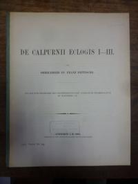 Fritzsche, De Calpurni Eclogis I – III,