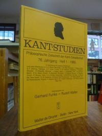 Kant, Kant-Studien, 76. Jahrgang, Heft 1, 1985,