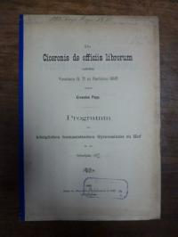Popp, De Ciceronis de officiis librorum codicibus Vossiano Q. 71 et Parisino 660
