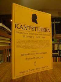 Kant, Kant-Studien – Philosophische Zeitschrift der Kant-Gesellschaft, 89. Jahrg