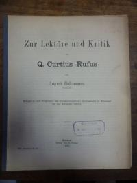 Holtzmann, Zur Lektüre und Kritik des Q. Curtius Rufus,