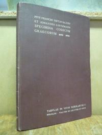 Franchi de'Cavalieri, Specimina codicum Graecorum Vaticanorum. Editio iterata et