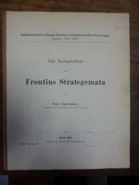 Esternaux, Die Komposition von Frontins Strategemata,