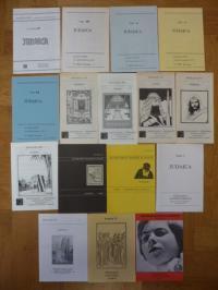 Antiquariatskatalog / J. Reinhardt, Konvolt von 16 Antiquariatskatalogen zu Juda