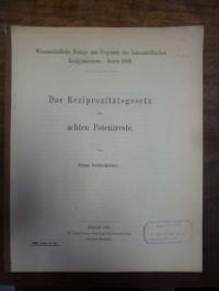 Goldscheider, Das Reziprozitätsgesetz der achten Potenzreste,