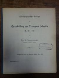 Großer, Kritisch-Exegetische Beiträge zur Textgestaltung von Xenophons Hellenika