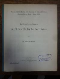 Breska: Quellenuntersuchungen im 21. bis 23. Buche des Livius,
