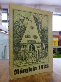 Scholz, Ränzlein 1933 – Ein fröhliches Jahrbüchlein für kleine Wander- und Natur