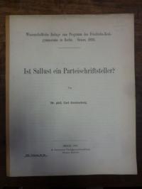 Gerstenberg, Ist Sallust ein Parteischriftsteller?,