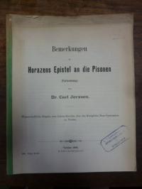 Jerxsen, Bemerkungen zu Horazens Epistel an die Pisonen (Fortsetzung),