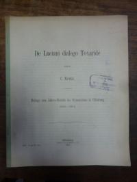 Kretz, De Luciani dialogo Toxaride,
