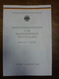 Bundesfernstraßen in der Bundesrepublik Deutschland, Maßstab 1: 750.000, Stand: