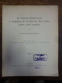 Kuhlmann, De veterum historicorum in Augustini de civitate dei libro primo, alte