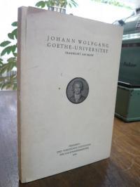 J.W.v. Goethe-Universität, Personen- und Vorlesungs-Verzeichnis für das Sommerse