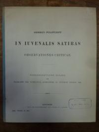 Polstorff, In iuvenalis satiras, observationes criticae,