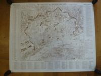 Stadtplan Frankfurt / Foltz-Eberle, Geometrischer Grundriß von Frankfurt a.M. u.