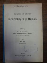 Loesch, Sprachliche und erläuternde Bemerkungen zu Appian,