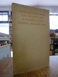 Boecklin, Das Bildnis der Schauspielerin Fanny Janauschek,