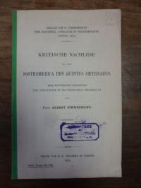Zimmermann, Kritische Nachlese zu den Posthomerica des Quintus Smyrnaeus, eine n