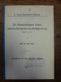 Huber, Die Glaubwürdigkeit Casars in seinem Bericht über den gallischen Krieg (B