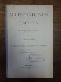 Renz, Alliterationen bei Tacitus,