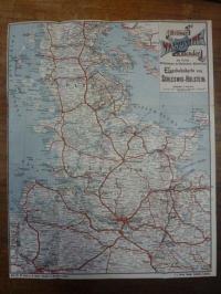 Koch, Eisenbahnkarte von Schleswig-Holstein – Beilage zum Valvoline-Kalender,