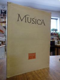 Musica – Zweimonatsschrift für alle Gebiete des Musiklebens, 1. Jahrgang, Heft 1
