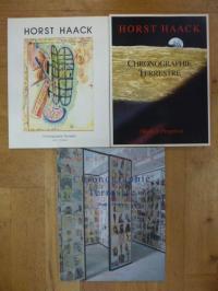 Haack, Chronographie Terrestre (Work in Progress), 3 Kataloge 1985-2002,