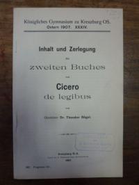 Bögel, Inhalt und Zerlegung des zweiten Buches von Cicero de legibus,
