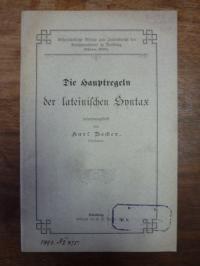 Becker, Die Hauptregeln der lateinischen Syntax,