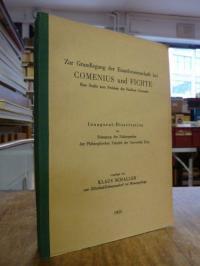 Schaller, Zur Grundlegung der Einzelwissenschaft bei Comenius und Fichte – Eine