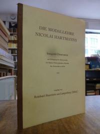 Hartmann, Die Modallehre Nicolai Hartmanns,