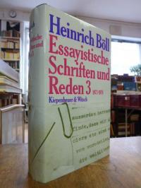 Böll, Essayistische Schriften und Reden 3: 1973 – 1978,