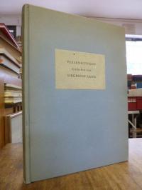 Lang, Versenkungen – Gedichte Auswahl 1927 – 1931,