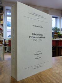 Moeller, Königsberger Personenstandsfälle 1727 – 1764,