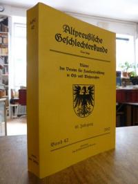 Verein für Familienforschung in Ost- und Westpreußen (Hrsg.), Altpreußische Gesc