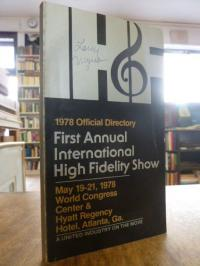 Braun, First Annual International High Fidelity Show 1978 – Official Directory,