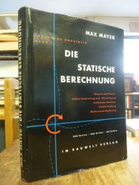 Mayer, Die statische Berechnung,